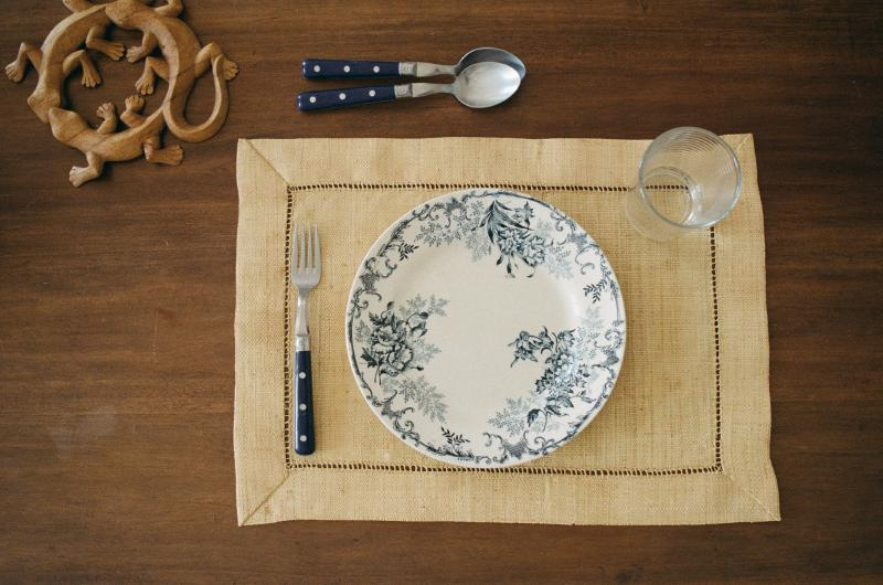Photo of table setting with a plate and cutlery